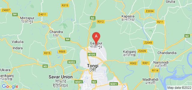 map of Gazipur, Bangladesh